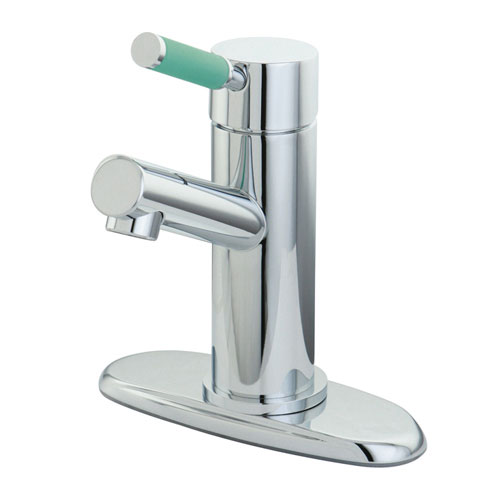 Kingston Brass Green Eden Chrome Single Handle Bathroom Sink Faucet FS8421DGL