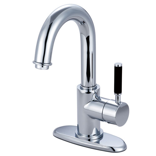 Kingston Kaiser Chrome Single Handle Bathroom Faucet w push Drain FS8431DKL