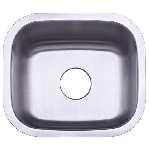 Kingston Brushed Nickel Gourmetier Single Bowl Undermount Kitchen Sink GKUS16168
