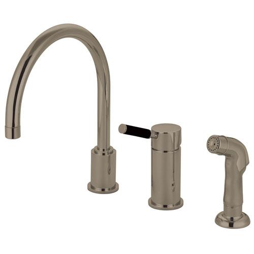 Kaiser Satin Nickel Widespread Single Handle Kitchen Faucet w/spray GS8018DKLSP
