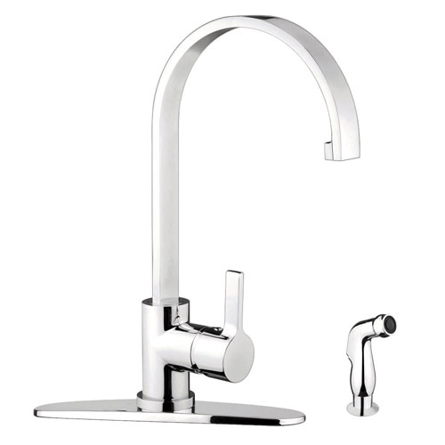 Kingston Brass Chrome Single Handle Kitchen Faucet w Brass Sprayer GS8711CTLSP