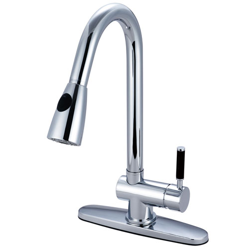 Kaiser Chrome Single Lever Handle Pull Down spray Kitchen Faucet GS8891DKL