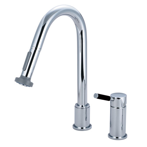 Kingston Kaiser Chrome Single Handle Pull down spray Kitchen Faucet GS8911DKL