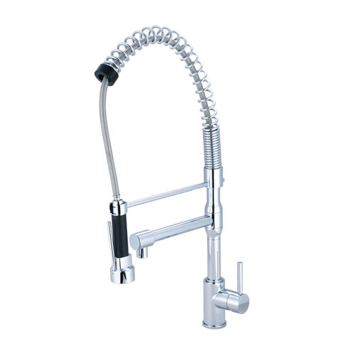 Kingston Chrome Single Handle Pre-rinse Kitchen Faucet with extra spout GS8971DL