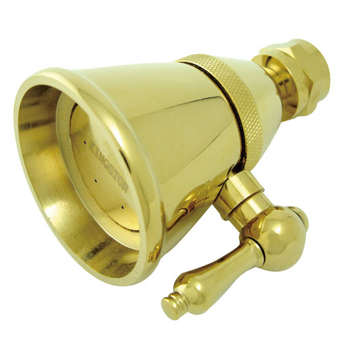 Polished Brass Shower Heads Adjustable Spray Shower Head K132C2