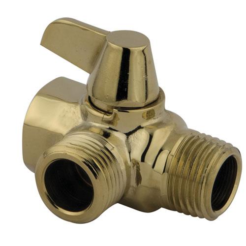 Kingston Polished Brass Solid Brass Flow Diverter for Shower Arm Mount K160A2