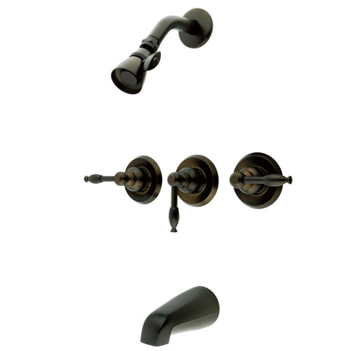 Magellan Oil Rubbed Bronze Three Handle Tub & Shower Combo Faucet KB235KL