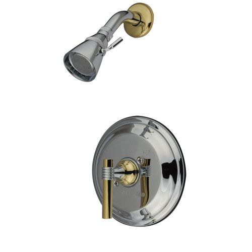 Kingston Brass Chrome/Polished Brass Single Handle Shower Faucet KB2634MLSO