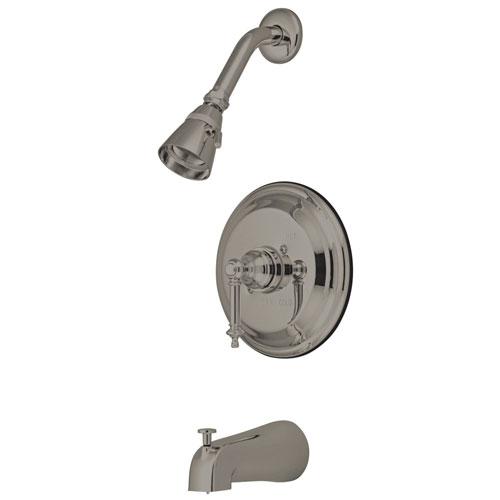 Kingston Brass Satin Nickel Templeton Tub & Shower Combination Faucet KB2638TL