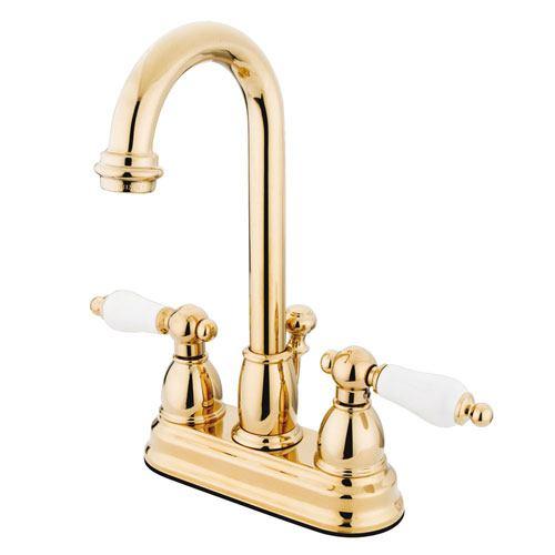 Kingston Polished Brass 2 handle 4