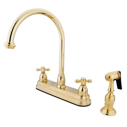 Kingston Polished Brass Two Handle 8