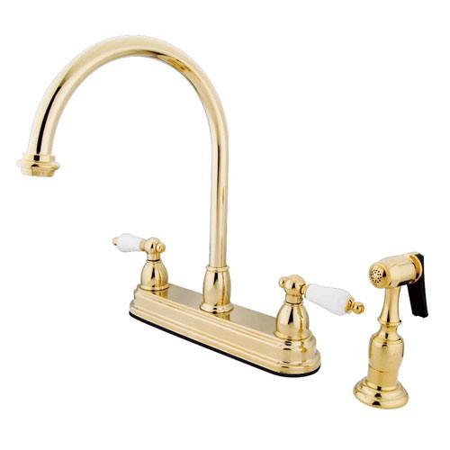 Kingston Polished Brass Two Handle 8