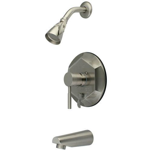 Kingston Brass Concord Satin Nickel Single Handle Tub & Shower Faucet KB46380DL