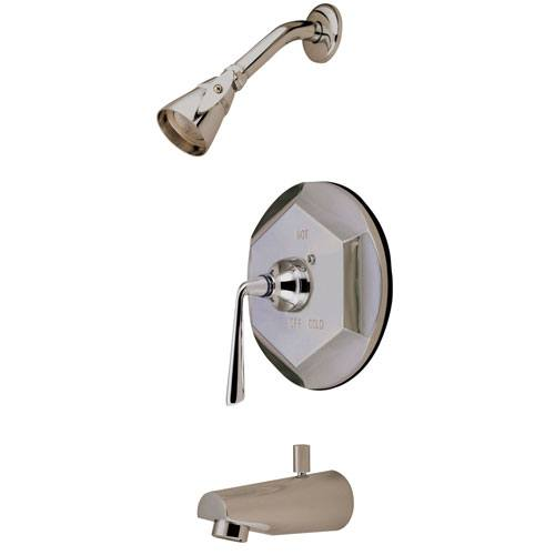 Kingston Brass Silver Sage Satin Nickel Tub & Shower Combination Faucet KB4638ZL