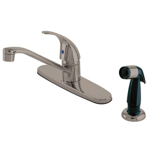 Kingston Brass Satin Nickel Single Handle Kitchen Faucet KB6578LL