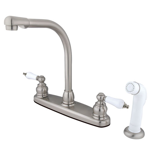 high arch kitchen faucet kingston brass satin nickel high arch kitchen faucet with 18045