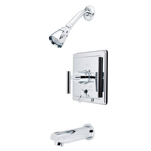 Kingston Brass Chrome Manhattan tub & shower faucet combination KB86510CML