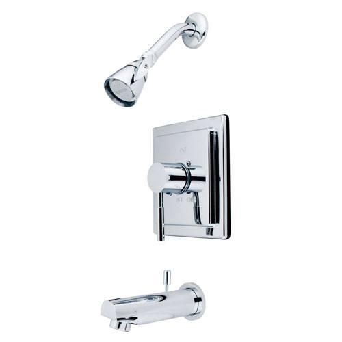 Kingston Brass Concord Chrome Single Handle Tub & Shower Faucet KB8651DL