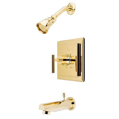 Kingston Polished Brass Manhattan tub & shower Combination Faucet KB8652CML
