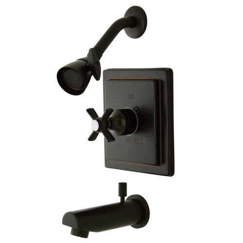 Kingston Brass KB8655ZX Tub and Shower Combination Faucet Oil Rubbed Bronze