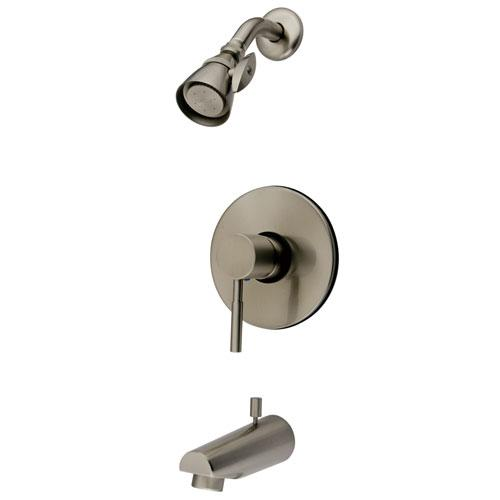 Kingston Brass Concord Satin Nickel Single Handle Tub & Shower Faucet KB8698DL