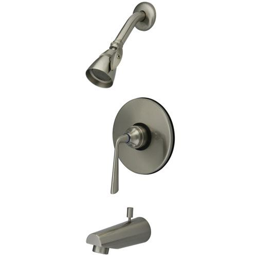 Kingston Brass Silver Sage Satin Nickel Tub & Shower Combination Faucet KB8698ZL