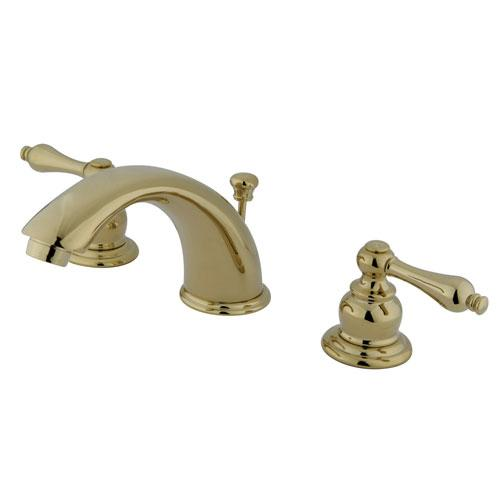 Kingston Polished Brass 2 Handle Widespread Bathroom Faucet w Pop-up KB972AL