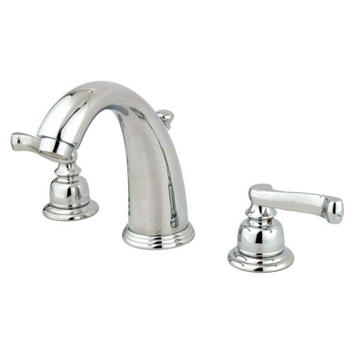 Kingston Brass Chrome 2 Handle Widespread Bathroom Faucet with Pop-up KB981FL