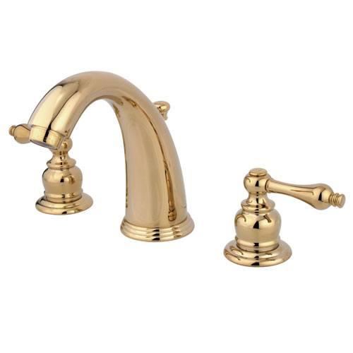 Kingston Polished Brass 2 Handle Widespread Bathroom Faucet w Pop-up KB982AL