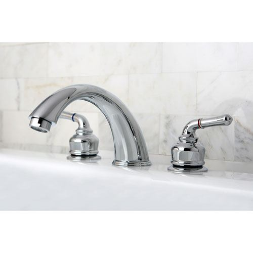 Kingston Brass Chrome Magellan lever handle roman tub filler faucet KC361