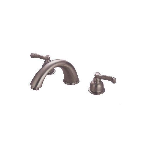 Kingston Brass Satin Nickel Two Handle Roman Tub Filler Faucet KC8368