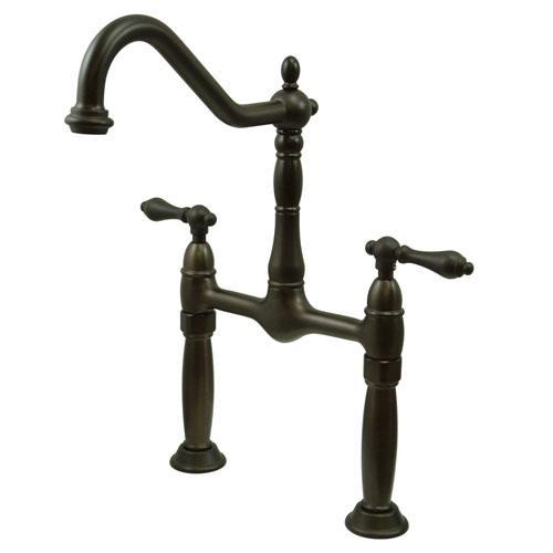 Kingston Brass Oil Rubbed Bronze 2 Handle Vessel Sink Bathroom Faucet KS1075AL