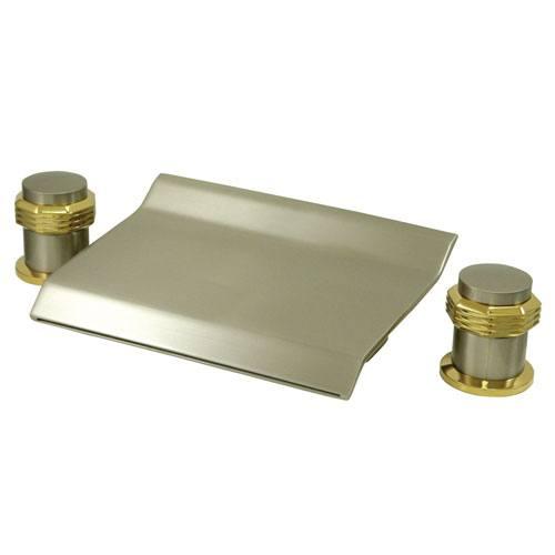 Satin Nickel / Polished Brass Waterfall Roman Tub Filler Faucet KS2249MR