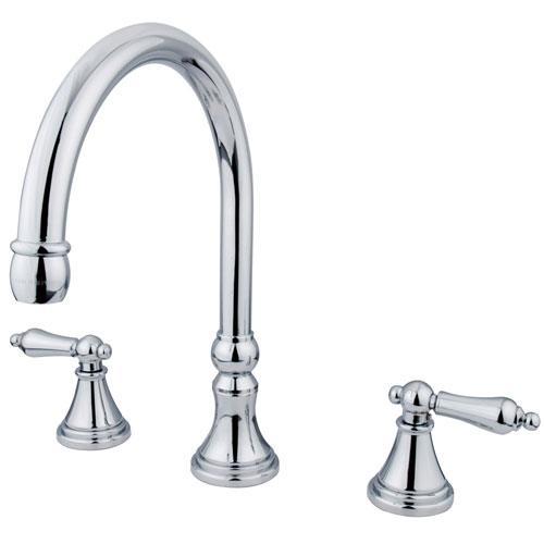 Kingston Brass Chrome Two Handle Roman Tub Filler Faucet KS2341AL