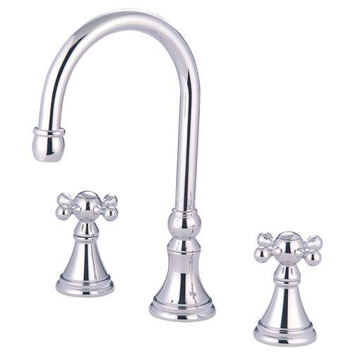 Kingston Brass Chrome Two Handle Roman Tub Filler Faucet KS2341KX