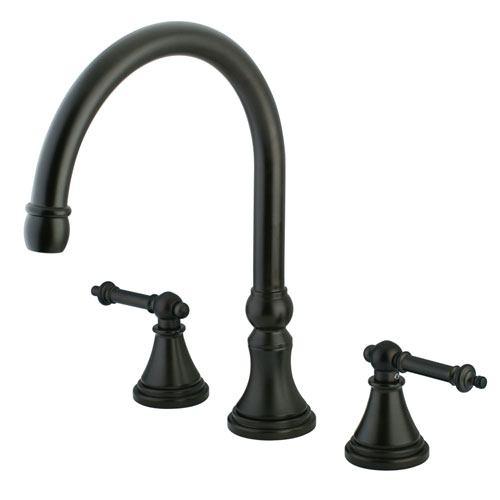 Kingston Oil Rubbed Bronze Tuscany Two Handle Roman Tub Filler Faucet KS2345TL
