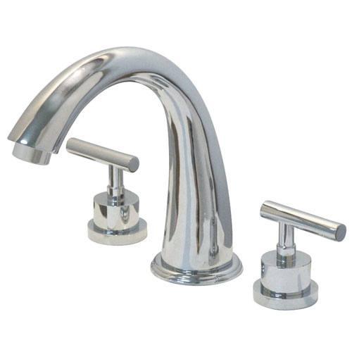 Kingston Brass Chrome Manhattan roman tub filler faucet KS2361CML