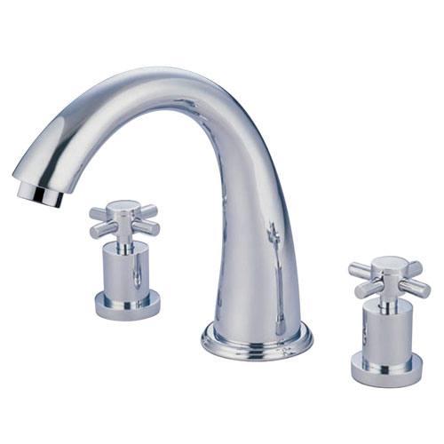Kingston Brass Concord Chrome Two Handle Roman tub filler faucet KS2361DX