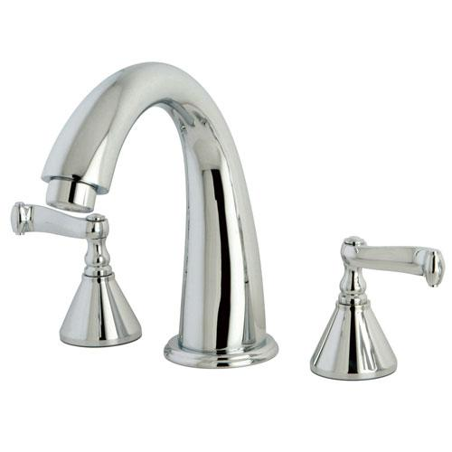 Kingston Brass Chrome Two Handle Roman Tub Filler Faucet KS2361FL