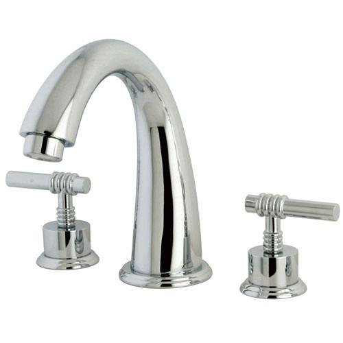 Kingston Brass Chrome Milano Two Handle Roman Tub Filler Faucet KS2361ML