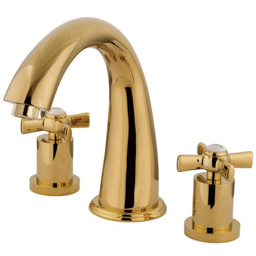 Kingston Brass KS2362ZX 2 Handle Roman Tub Filler Polished Brass