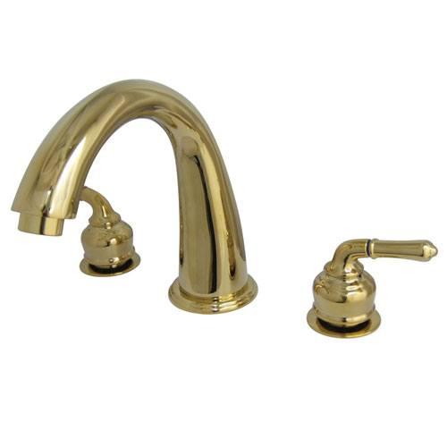 Kingston Brass Polished Brass Two Handle Roman Tub Filler Faucet KS2362