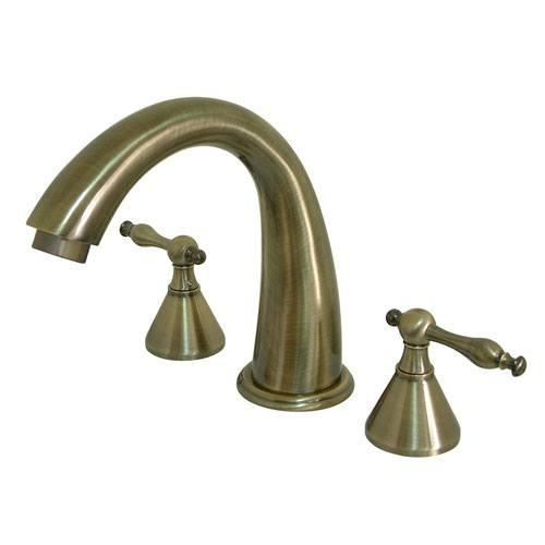 Kingston Brass Vintage Brass Naples Two Handle Roman Tub Filler Faucet KS2363NL