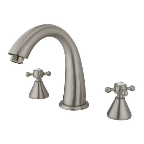 Kingston Brass Satin Nickel Two Handle Roman Tub Filler Faucet KS2368BX