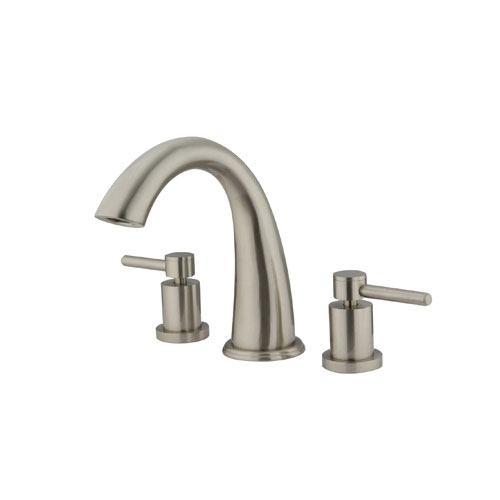 Kingston Brass Satin Nickel Concord Two Handle Roman Tub Filler Faucet KS2368DL