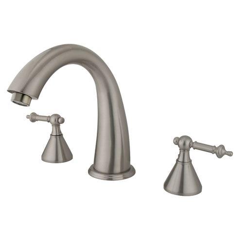 Kingston Brass Satin Nickel Two Handle Roman Tub Filler Faucet KS2368TL