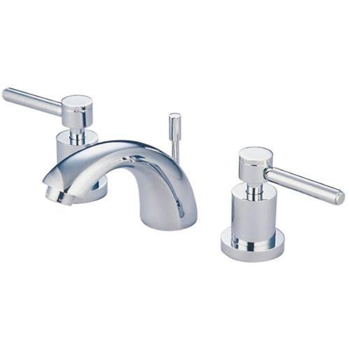 Chrome Two Handle Mini Widespread Bathroom Faucet w Brass Pop-Up KS2951DL