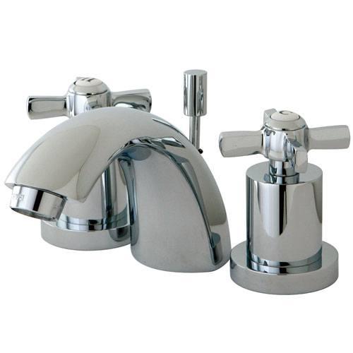 Kingston Brass KS2951ZX Mini Widespread Bathroom Faucet Polished Chrome