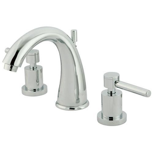 Chrome Two Handle Widespread Bathroom Faucet w/ Brass Pop-Up KS2961DL