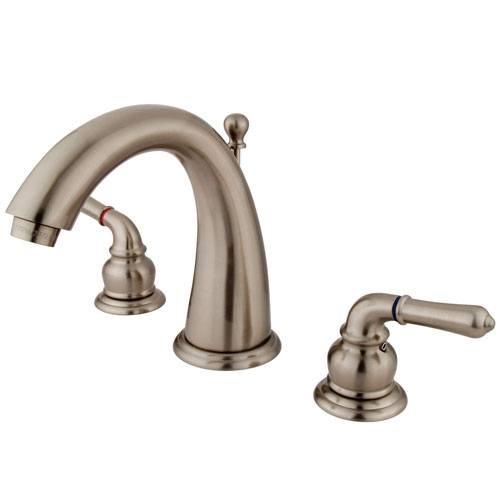 Kingston Brass Satin Nickel 2 Handle Widespread Bathroom Faucet w Pop-up KS2968